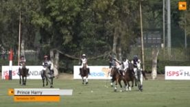 Prince Harry scoring at Sentebale ISPS Handa Polo Cup